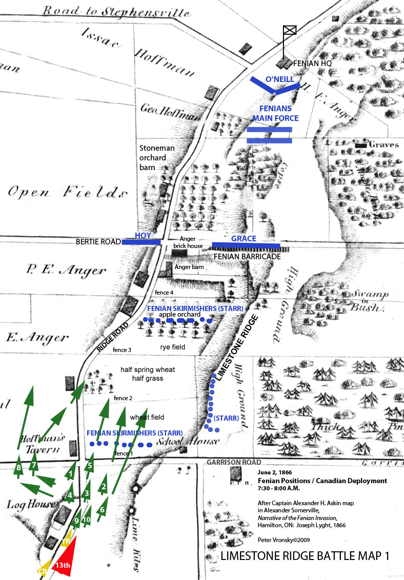 Battle Of Ridgeway Map 1